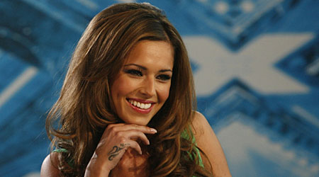 Cheryl Cole on The X Factor (Screengrab