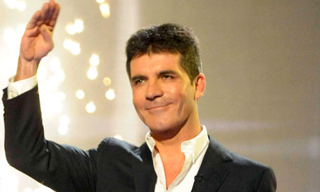 Simon Cowell in his X Factor mode (TV still)