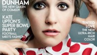 Lena Dunham appears on the cover of Vogue (Packshot)