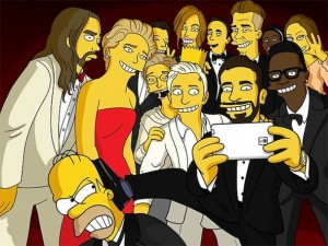 The Simpsons' selfie (Twitter)
